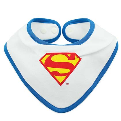 Superman Waterproof Superhero Bib