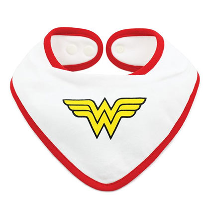 Wonder Woman Waterproof Superhero Bib