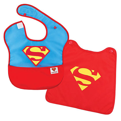 Superman Caped Superhero Bib