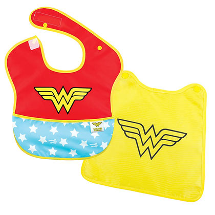 Wonder Woman Caped Superhero Bib