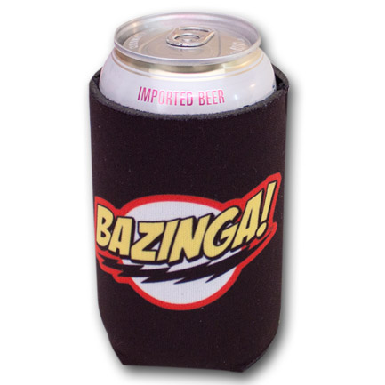 The Big Bang Theory Bazinga Black Bottle Can Koozie