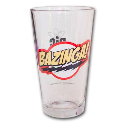 The Big Bang Theory Bazinga Pint Glass