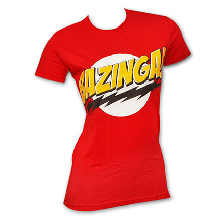 Big Bang Theory Bazinga Red Womens Graphic TShirt