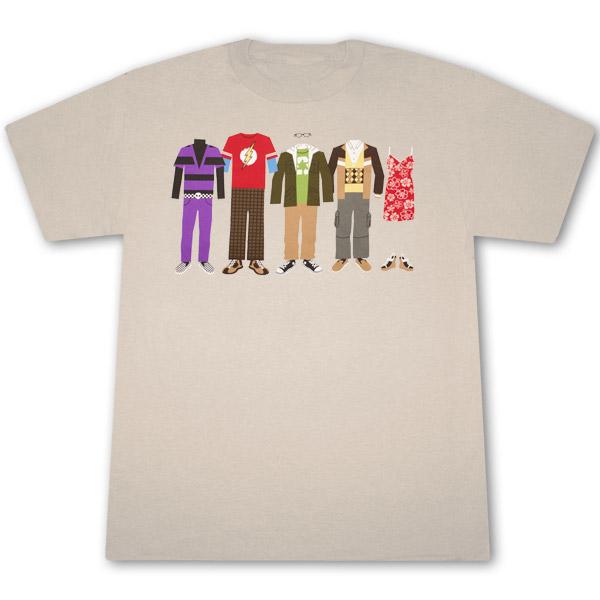 The Big Bang Theory Character Clothes Tan Graphic Tee Shirt