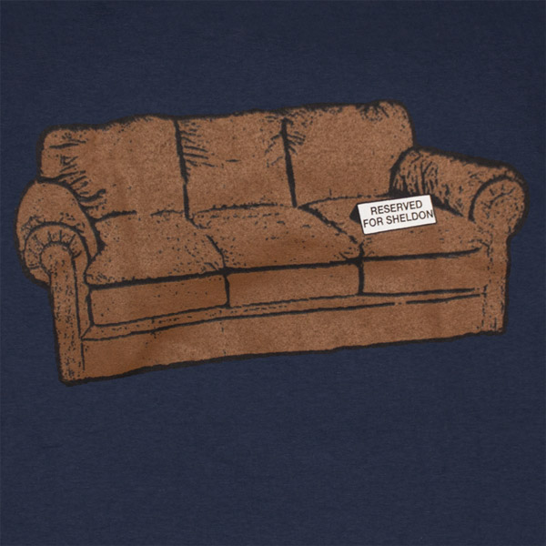 The Big Bang Theory Sheldon Reserved Couch Navy Blue