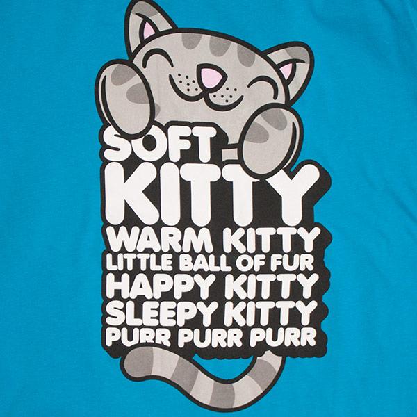 Womens Soft Kitty Warm Kitty Blue Tee Shirt Superherodencom