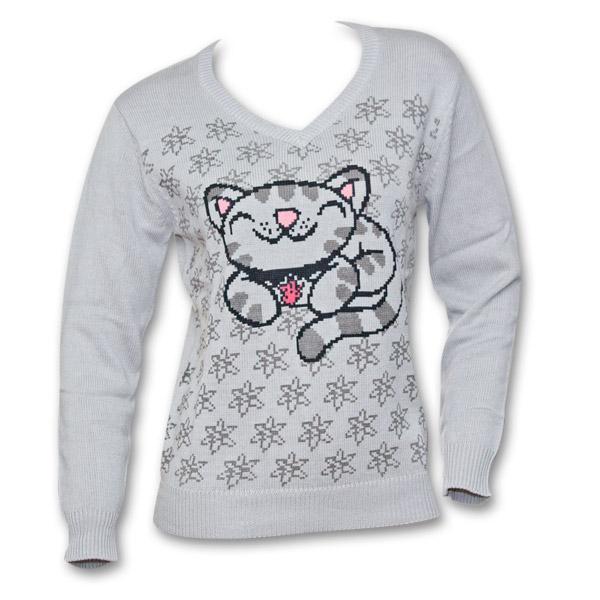 Big Bang Theory Soft Kitty Symbol Womens Sweater Tvmoviedepot