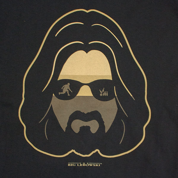 Men's Black The Big Lebowski Silhouette Tee Shirt