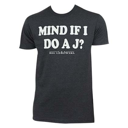Big Lebowski Men's Gray Mind If I Do A J T-Shirt