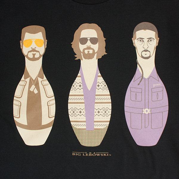 The Big Lebowski Black Bowling Pins T-Shirt