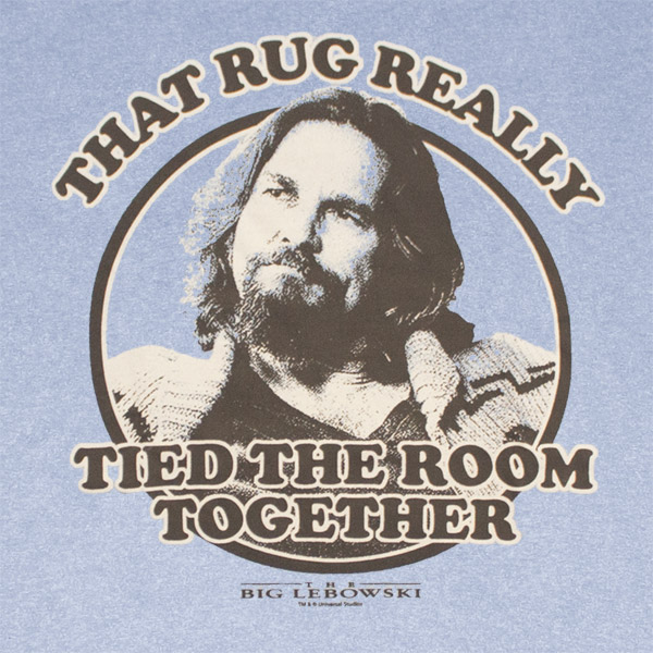 The Big Lebowski That Rug Tied The Room Together Blue Graphic T Shirt |  TVMovieDepot.com
