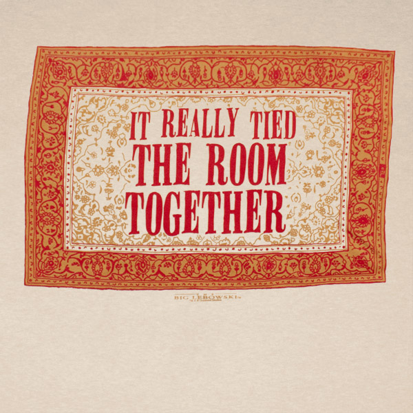 The Big Lebowski Rug Tied The Room Together Tan Graphic T Shirt |  TVMovieDepot.com