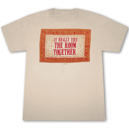 The Big Lebowski Rug Tied The Room Together Tan Graphic T
