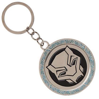 Black Panther Metal Movie Logo Keychain