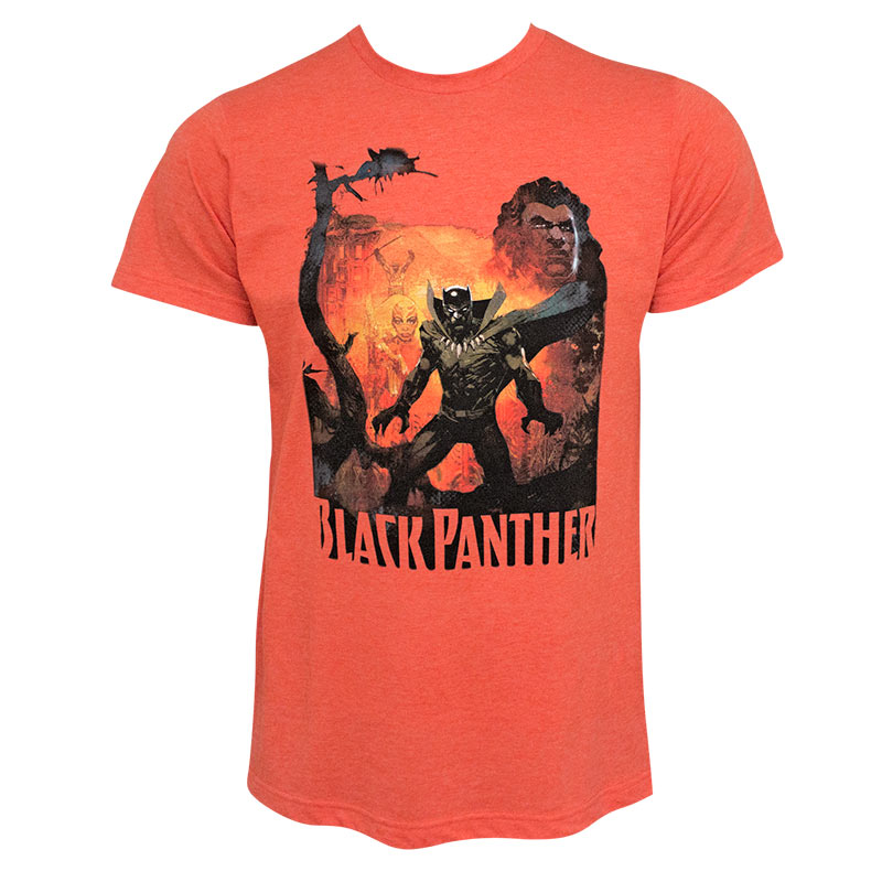 Black Panther History Of The King Men's Orange Tee Shirt