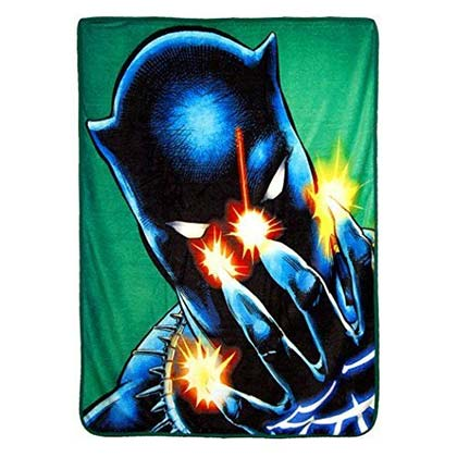 Black Panther Power Of Claws Green 40x60 Fleece Throw Blanket