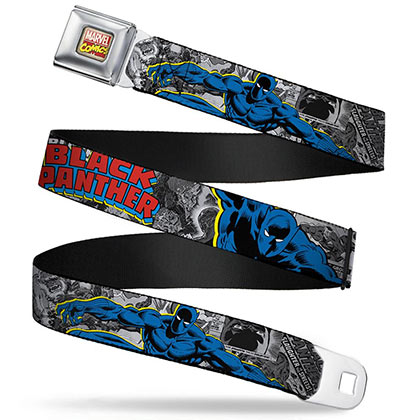 Black Panther Comic Book Seat Belt Buckle Belt