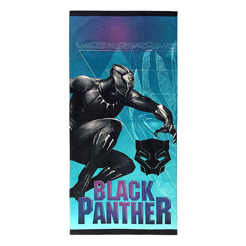 Black Panther Pose Beach Towel