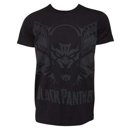 Black Panther Shadow Men's Black Tee Shirt