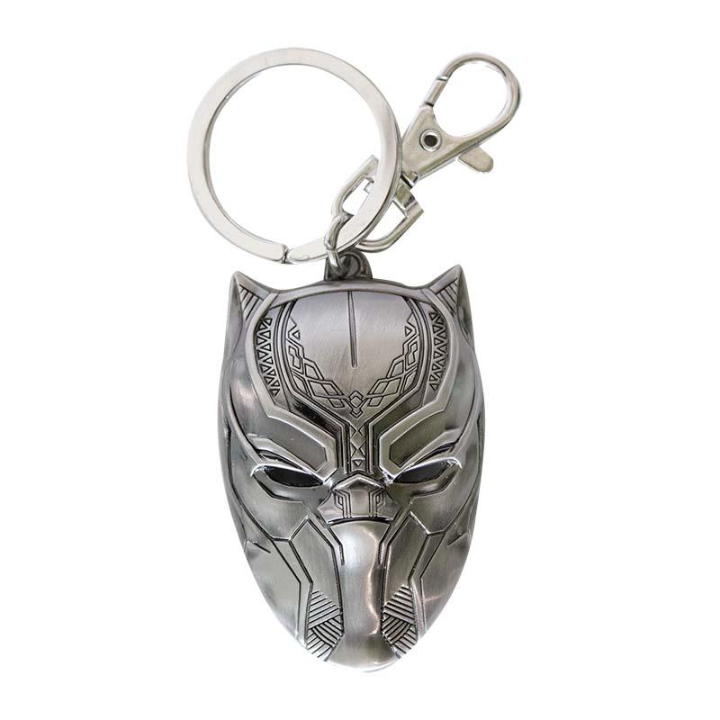 Black Panther Metal Keychain