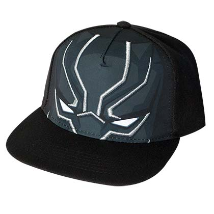 Black Panther Black Large Logo Snapback Hat