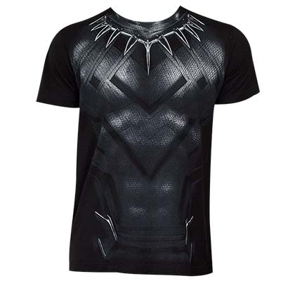 Captain America Civil War Black Panther Suit Costume Tee