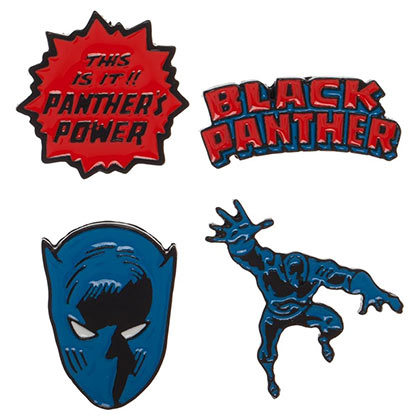 Black Panther 4-Pack Lapel Pin Set