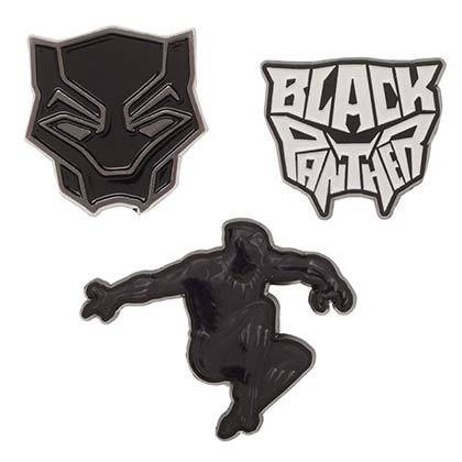 Black Panther Superhero Lapel Pin Set