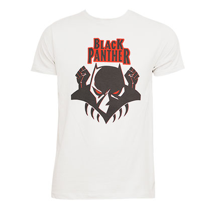 Black Panther Men's Cream T-Shirt