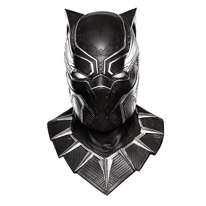 Black Panther Deluxe Overhead Latex Halloween Costume Mask