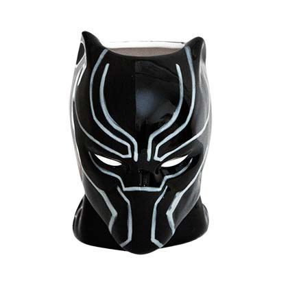 Black Panther Black Molded Mug