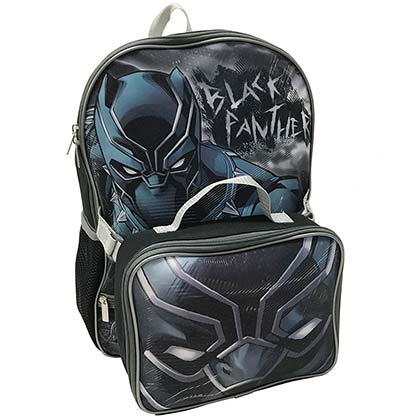 Black Panther Backpack and Lunch Kit