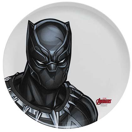 Black Panther Plastic Melamine Dinner Plate