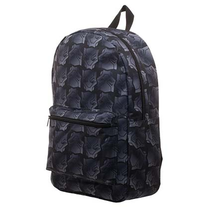 Black Panther Logo Sublimated Black Backpack