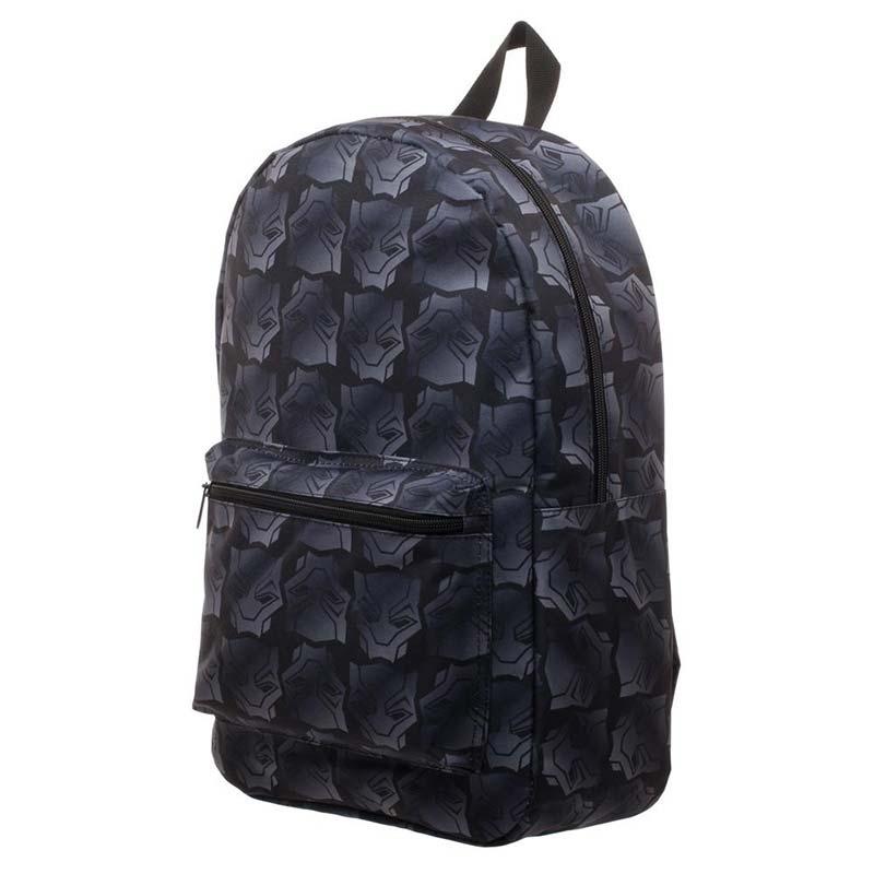 Black Panther Logo Sublimated Black Backpack