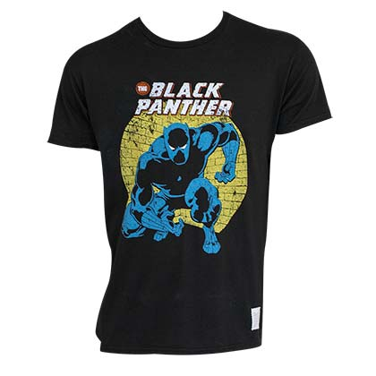 Black Panther Black Men's Retro T-Shirt
