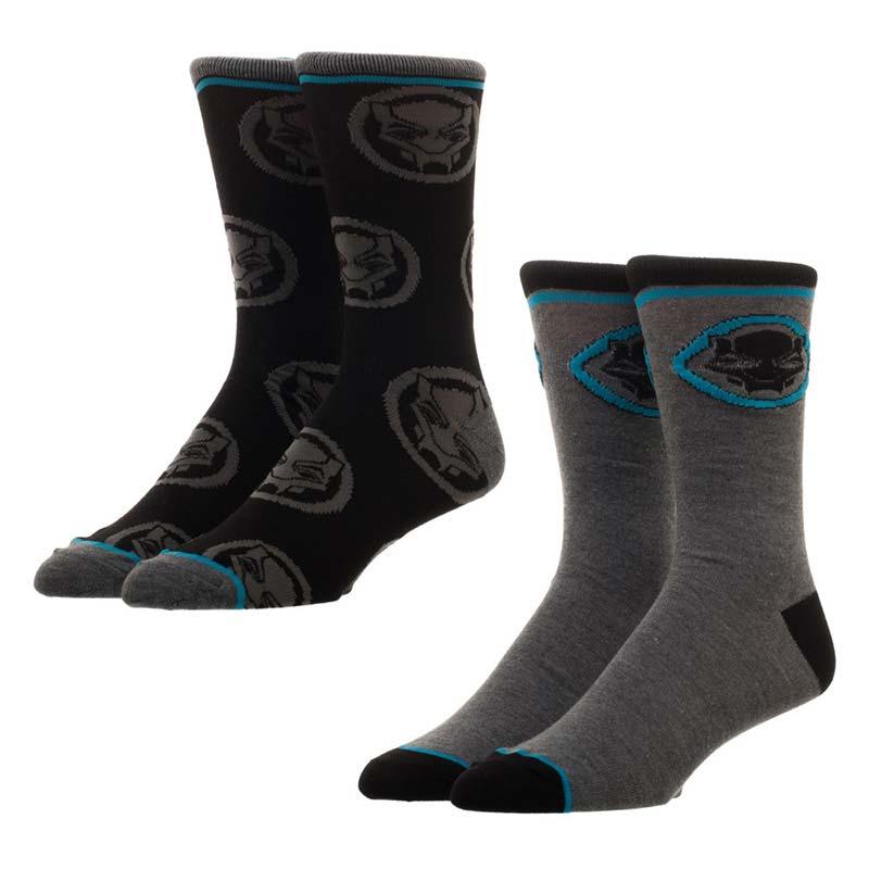 Black Panther Men's 2 Pack Crew Socks