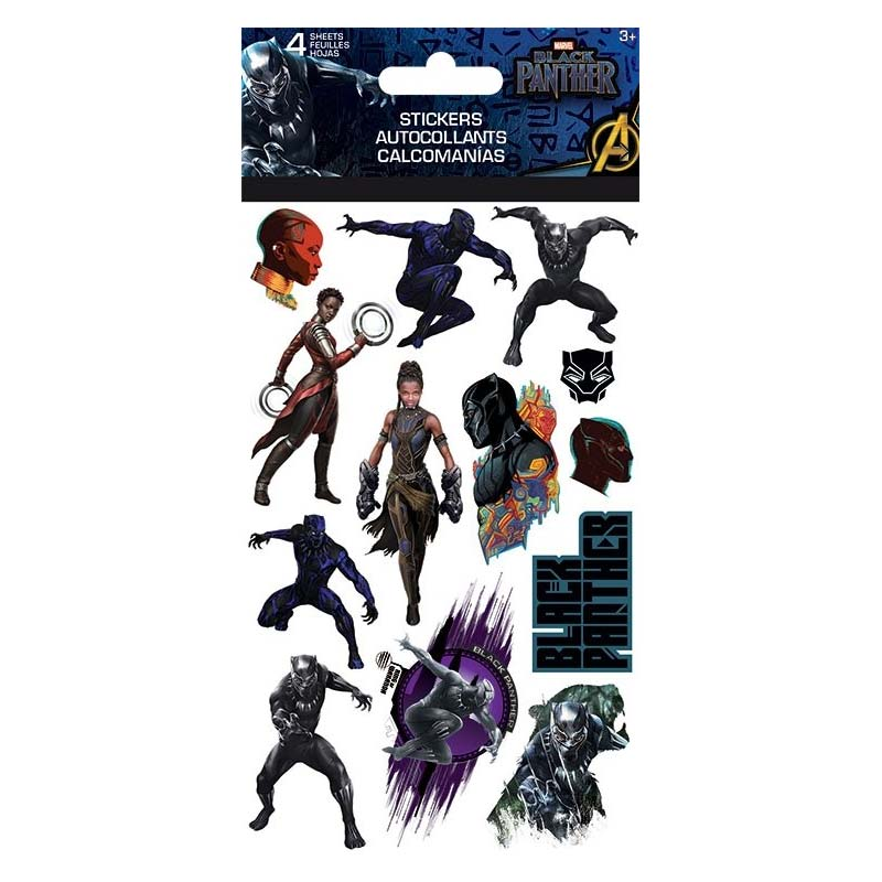 Black Panther Sticker Set