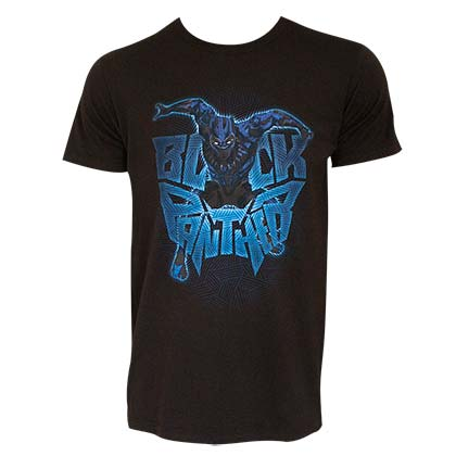 Black Panther Men's Black Attack Logo T-Shirt