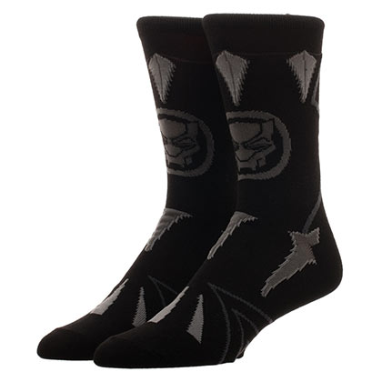Black Panther Suit Up Black Crew Socks