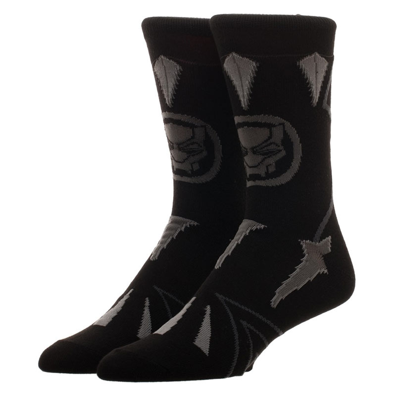 Black Panther Men's Black Suit Up Crew Socks