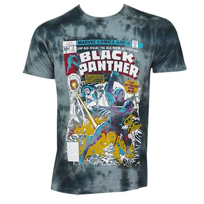 Black Panther Men's Tie Dye Comic Book Cover T-Shirt