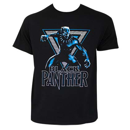 Black Panther Triangle Logo Black Tee Shirt