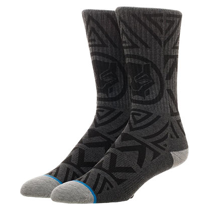Black Panther Grey Waterprint Crew Socks