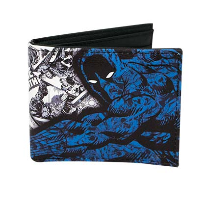 Black Panther Black & Blue Comic Book Style Wallet
