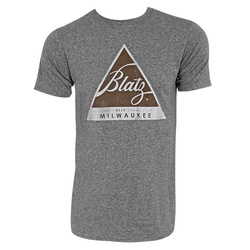 Blatz Logo Retro Brand Men's Grey T-Shirt | 800 x 800 jpeg 94kB