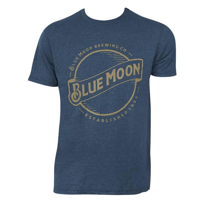 Blue Moon Men's Blue Gold Logo T-Shirt