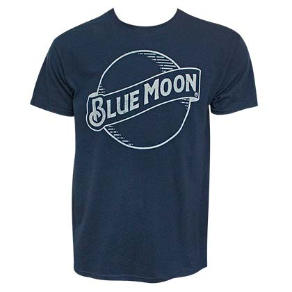 Blue Moon Classic Logo Men's Navy Blue TShirt
