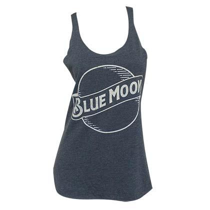 Blue Moon Logo Women's Racerback Blue-Gray Tank Top