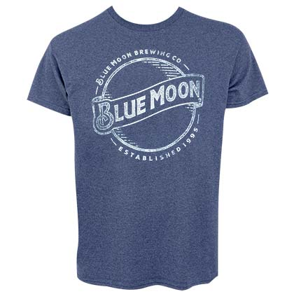 Blue Moon Line Logo Men's Heather Blue T-Shirt